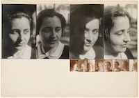 Josef Albers, <em>Marli Heimann, All During an Hour</em>, 1931/1932. Gelatin silver prints mounted to board. 11 11/16 × 16 7/16 inches overall. The Museum of Modern Art, New York. © 2016 The Josef and Anni Albers Foundation / Artists Rights Society (ARS), New York. Photo: John Wronn.