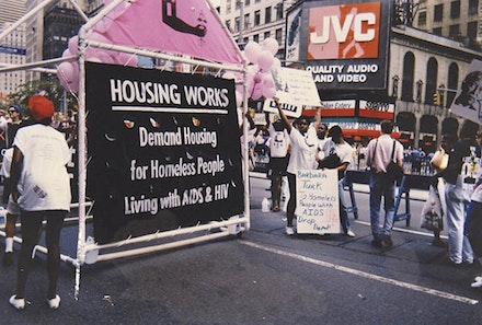 Housing Works' float in the 1991 Gay Pride Parade.