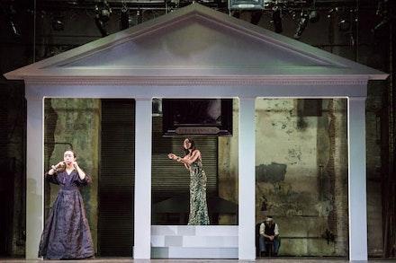 <p>Eunice Wong, Stephanie Weeks, and Satya Bhabha in TNT's<em>Mourning Becomes Electra</em>. Photo: Gia Squarci.</p>