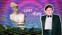 "B U I L D I N G W A L L S | B U R N I N G B R I D G E S, ""He does look like he's the last hope...,"" make vaporwave great again, August 28, 2016."