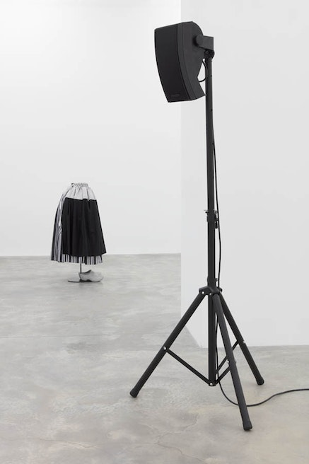 Installation view, Simon Starling, <em>The Liminal Trio plays the Golden Door</em>, Casey Kaplan, New York, 2017. Photo: Jean Vong. Courtesy the artist and Casey Kaplan, New York.