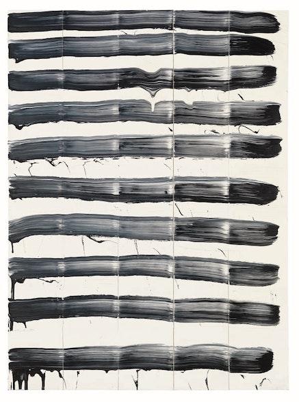 David Reed, <em>&#35;90</em>, 1975. Oil on canvas. 76 x 56 inches. Sammlung Goetz, Munich. &#169; 2017 David Reed / Artists Rights Society (ARS), New York. Photo: Robert McKeever. Courtesy Gagosian.
