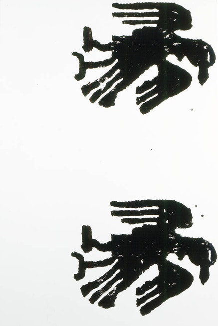 Christopher Wool, <em>Untitled</em>, 1990. Enamel and acrylic on aluminum. 96 x 64 inches. &#169; Christopher Wool. Courtesy the artist and Luhring Augustine, New York.