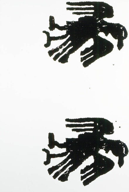 Christopher Wool, <em>Untitled</em>, 1990. Enamel and acrylic on aluminum. 96 x 64 inches. © Christopher Wool. Courtesy the artist and Luhring Augustine, New York.