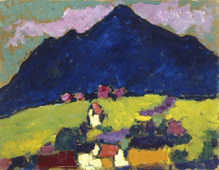 Alexei Jawlensky, <em>Murnau</em>, ca. 1910. Oil on cardboard. National Gallery of Art, Washington D.C. © 2017 Artists Rights Society (ARS), New York for Alexei Jawlensky.
