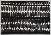 Heinz Mack, <em>Ohne Titel (Untitled)</em>, 1969. Ink on handmade paper. 30 × 44 inches. Courtesy the artist and Sperone Westwater, New York.