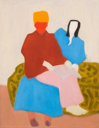 Milton Avery, <em>Mother's Boy</em>, 1944. Oil on canvas. 35 7/8 x 27 7/8 inches. Courtesy of Michael Rosenfeld Gallery LLC, New York.
