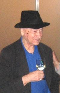Jonas Mekas at his Maya Stendhal opening, November 2006.
