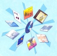The Aum Fidelity catalogue. Illustration by Megan Piontkowski.