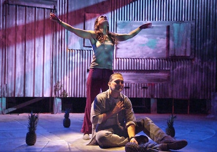 <em>Murielle Zuker and Jonathan Nichols in the Theatre @ Boston Court and Rattlestick Playwrights Theater's West Coast premiere of Martín Zimmerman's </em><em>Seven Spots on the Sun</em><em>, directed by Michael John Garces. </em><em><br /></em>