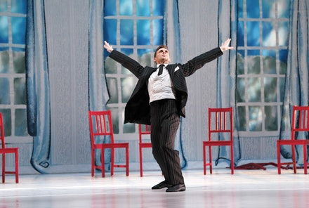 Michael Novak in <em>The Open Door</em>. Photo: Paul B. Goode.