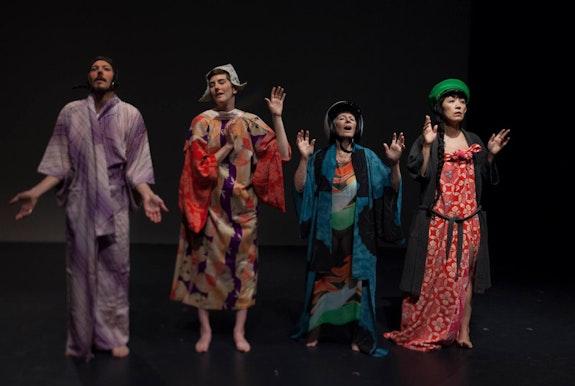 <em>Left to right: Daniel Nelson, Moira Stone, Tina Shepard, and </em><em>T.B. Sheets</em>. Photo: David Pym.