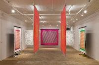 Installation view: Lisa Alvarado, <em>Sound Talisman</em>, Bridget Donahue, New York, March 26 - May 21, 2017. © Lisa Alvarado. Courtesy the artist and Bridget Donahue, New York.