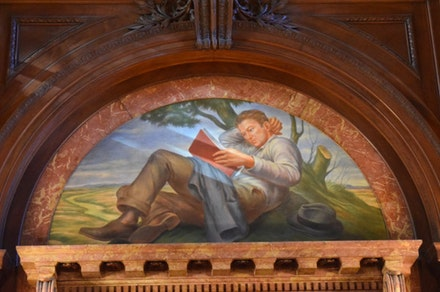 Mural at the New York Public Library. Photo: Richard Walker.