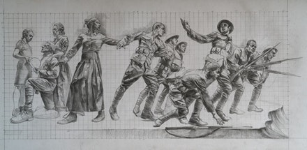 Sabin Howard, <em>Design Cartoons for the National World War 1 Memorial at Pershing Park in Washington D.C</em>., 2015. Courtesy the artist.