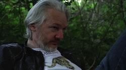 Julian Assange in <em>Risk</em>.