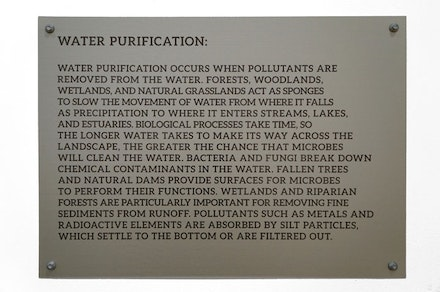 David Brooks. Continuous Service Altered Daily (Water Purification didactics) detail. Courtesy of the artist.