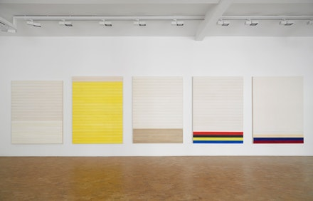 Luke Diiorio, <em>nine paintings</em>, solo exhibition, installation view, Pippy Houldsworth Gallery, London (2017). Courtesy, the artist and Pippy Houldsworth Gallery, London.