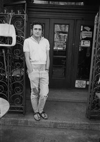 John Giorno at Hotel Chelsea, 1965. Photo: Brion Gysin.