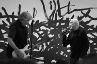 RHYS CHATHAM AND JOHN GIORNO PERFORMING AT CNEI SHOW OPENING, 2009. PHOTO: JEFF GUESS.