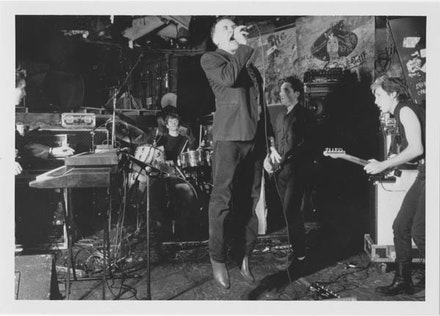 JOHN GIORNO BAND AT CBGB, 1986. PHOTO: KATE SIMON.