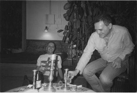 GENESIS P-ORRIDGE AND JOHN GIORNO AT 222 BOWERY, 1983.