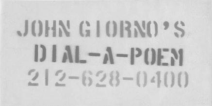 JOHN GIORNO&#146;S <EM>DIAL-A-POEM</EM>, 1969.