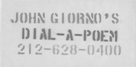 JOHN GIORNO'S <EM>DIAL-A-POEM</EM>, 1969.