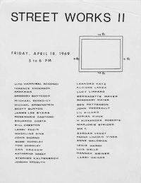 <EM>STREET WORKS II</EM>, 1969.