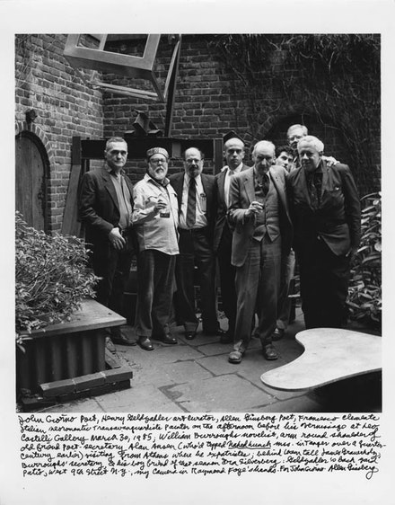 JOHN GIORNO, HENRY GELDZAHLER, ALLEN GINSBERG, FRANCESCO CLEMENTE, WILLIAM BURROUGHS,