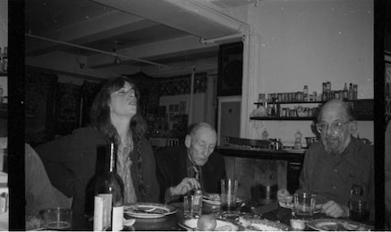 PATTI SMITH DINNER PARTY AT 222 BOWERY, 1995.
