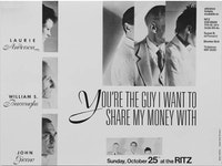 <EM>YOU'RE THE GUY I WANT TO SHARE MY MONEY WITH</EM>, 1981.