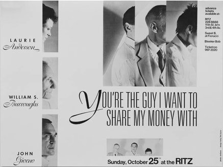 <EM>YOU&#146;RE THE GUY I WANT TO SHARE MY MONEY WITH</EM>, 1981.