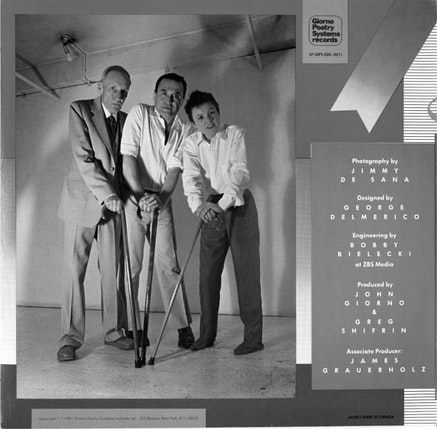 LAURIE ANDERSON, WILLIAM BURROUGHS, JOHN GIORNO, YOU'RE THE GUY I WANT TO SHARE MY MONEY WITH LP COVER, 1981.