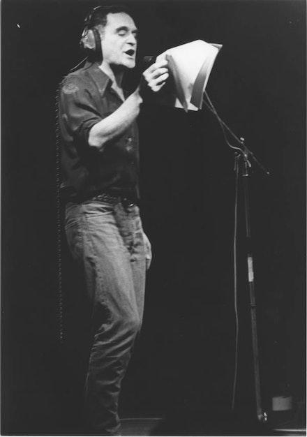JOHN GIORNO PERFORMING, 1979.