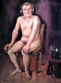 """<i>Kurt Weinhold, """"Mann mit Radio (Homo sapiens)"""" ["""