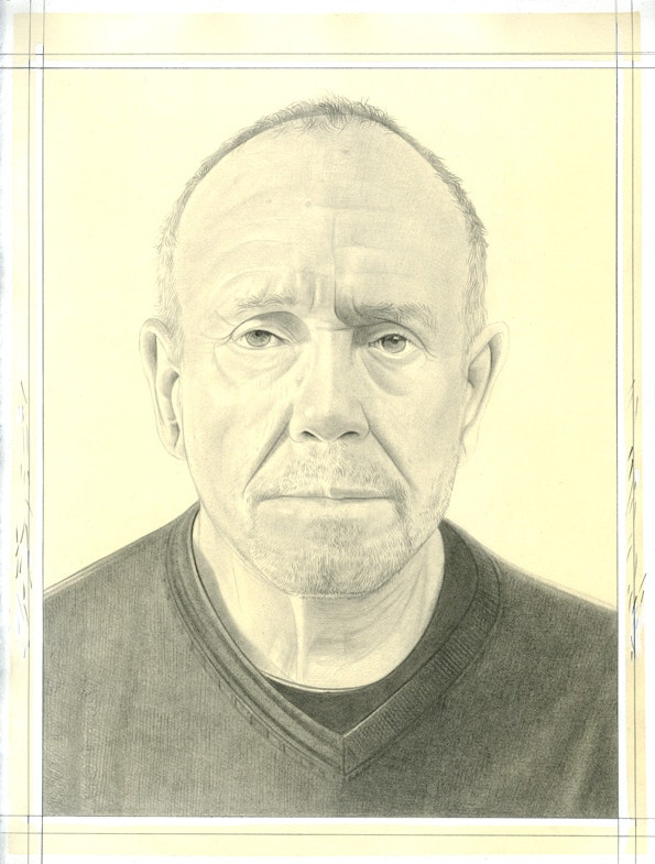 Portrait of Guy Goodwin. Pencil on paper by Phong Bui.