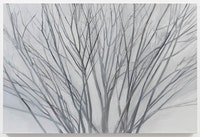 Sylvia Plimack Mangold, <em>Winter Maple 2017</em>, 2017, oil on linen. 30″ x 45″ <em> (Photo credit: Joerg Lohse, courtesy Alexander and Bonin, New York)</em>