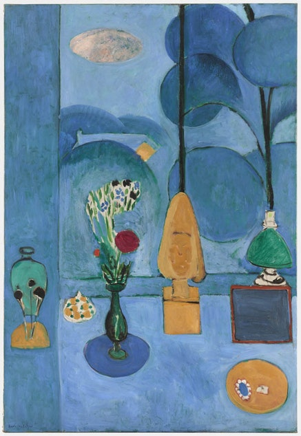 Henri Matisse, <em>The Blue Window</em>, 1913; oil on canvas; the Museum of Modern Art, New York, Abby Aldrich Rockefeller Fund; &copy;Succession H. Matisse/Artists Rights Society (ARS), New York
