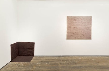 "Merrill Wagner, ""Works From the 70's,"" installation shot, May 2017 <em>(Photo credit: Adam Reich, Courtesy of Galerie Zürcher)</em>."