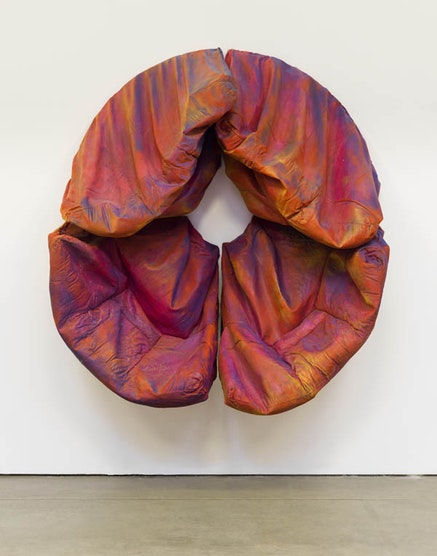 Kaari Upson, <em>Who Is Afraid of Red, Yellow and Blue</em>, 2014. Urethane, pigment, and aluminum. 85 1/2 &times; 78 &times; 30 3/4 in (217 &times; 198 &times; 78 cm). &copy; Kaari Upson. Courtesy the artist. <em>(Photo credit: Megan Bartley-Matthews)</em>