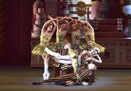 <p>Stella Abrera and David Hallberg in <em>Whipped Cream</em>. <em>(Photo credit: Gene Schiavone)</em></p>