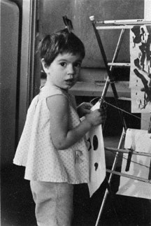 Andrea Fraser painting, Berkeley, California,1969.