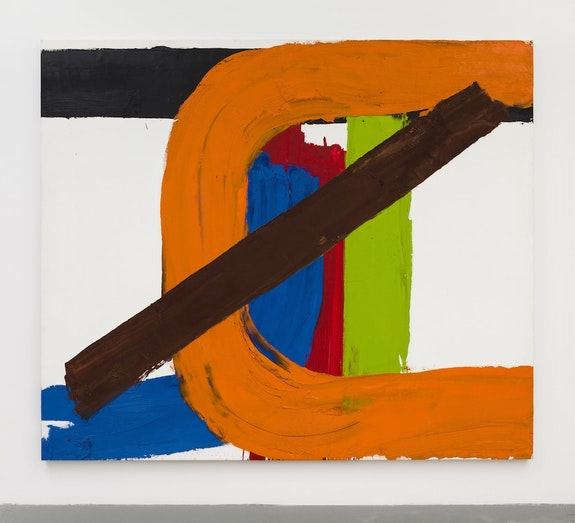 Guy Goodwin, <em>C-Swing</em>, 1974. Oil on canvas. 87.5 x 102 in. Courtesy Brennan & Griffin.