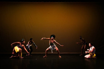 Our Caribbean Spirit signature piece for the 2017 New Traditions Festival directed by Candace Thompson performers in photo - Akilah Pascall ILANA Warner, Alexandra Jean-Joseph, Clara Auguste, Natasha Warwick. Credit: Shane Drummond