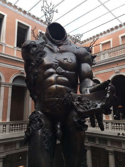 Damien Hirst, <em>Treasures from the Wreck of the Unbelievable</em>, Palazzo Grassi. Photo by David Carrier.