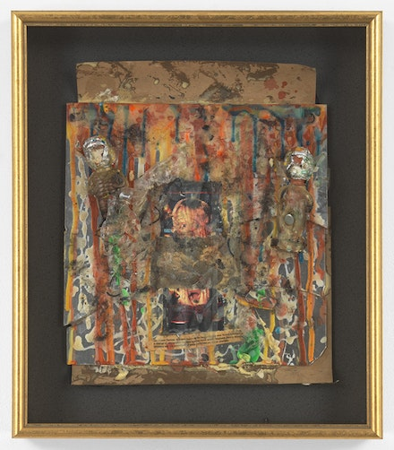 Pope.L, <em>Mau Mau 2000</em>, 1994. Mixed media assemblage. 19 1/2 by 16 7/8 by 3 in. © Pope.L. Courtesy of the artist and Mitchell-Innes & Nash, NY.