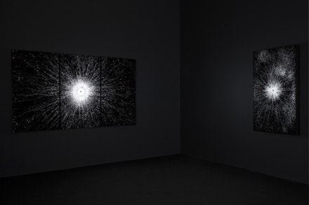 Installation view of <em>Leo Villareal </em>. 537 West 24th Street, New York. May 4 - August 11, 2017. © Leo Villareal. Photography by Mark Waldhauser, courtesy Pace Gallery.