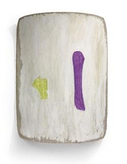 Ron Gorchov, <em>Perogative</em>, 1987. 67 x 49 inches. Oil on linen. Courtesy of Cheim & Read, New York.