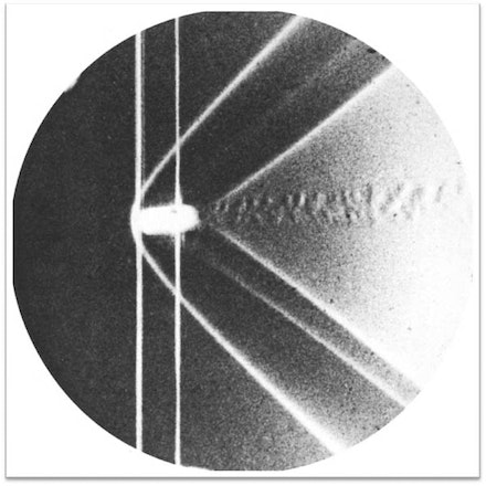 Ernst Mach, Bullet in supersonic flight, Schlieren photograph, 1887